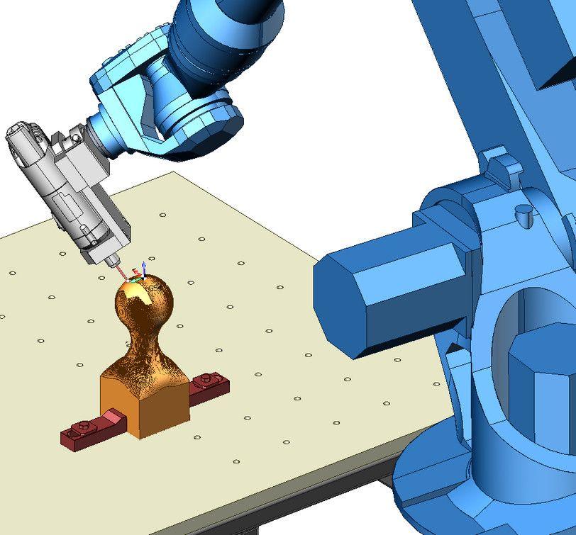 Обработка детали в SprutCAM кубок