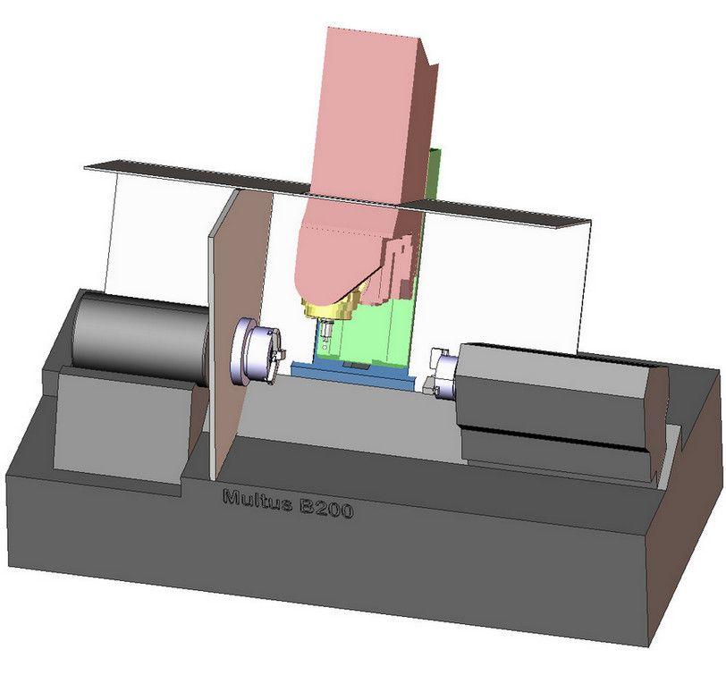 Виртуальная модель обрабатывающего центра Multus в SprutCAM