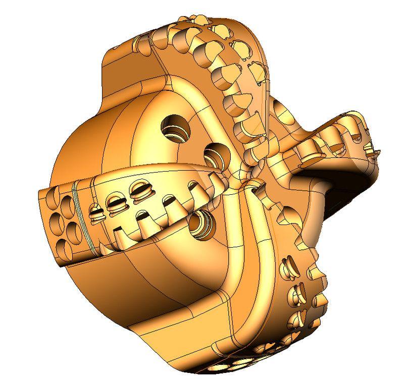 sprutcam 3D модель детали галам 3д