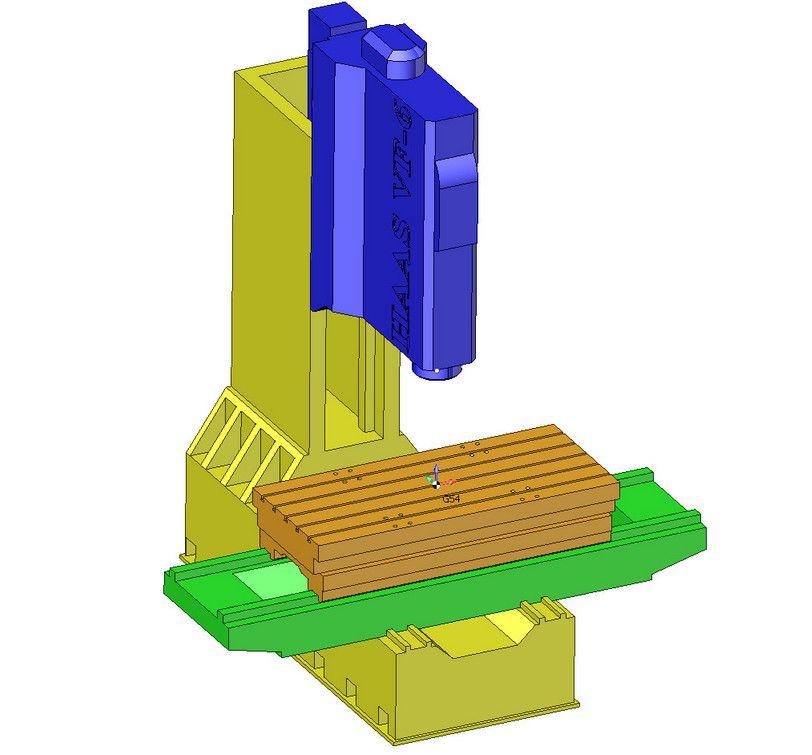 Виртуальная модель обрабатывающего центра Haas в SprutCAM