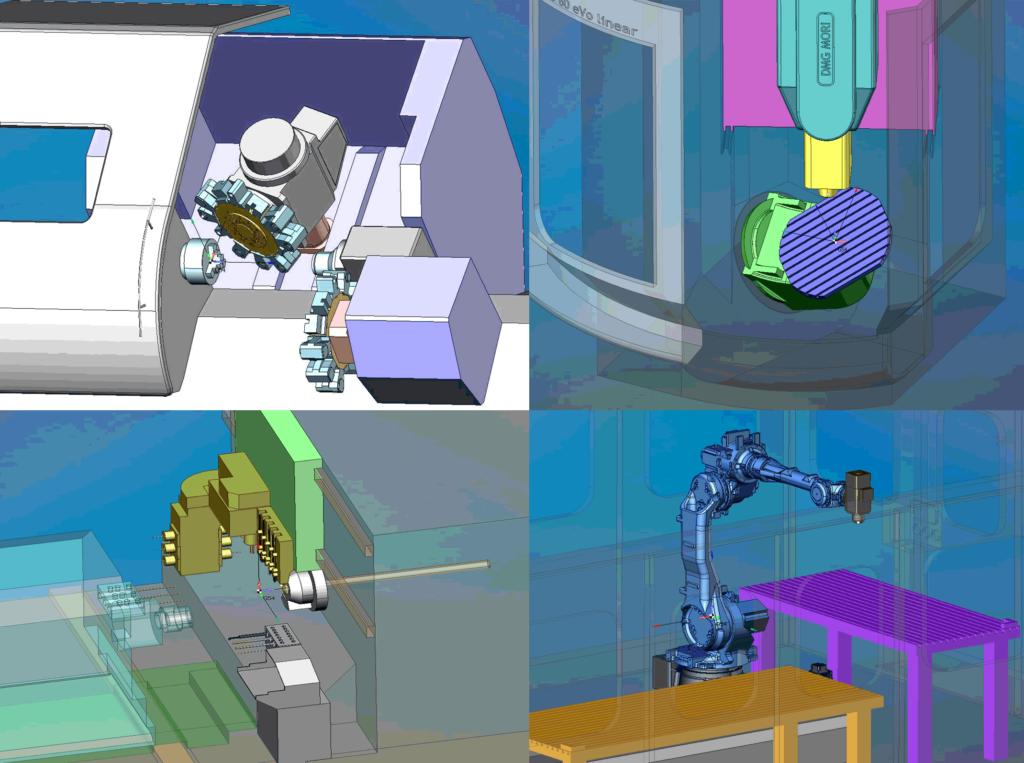 Рис4 – Виртуальные модели оборудования в SprutCAM