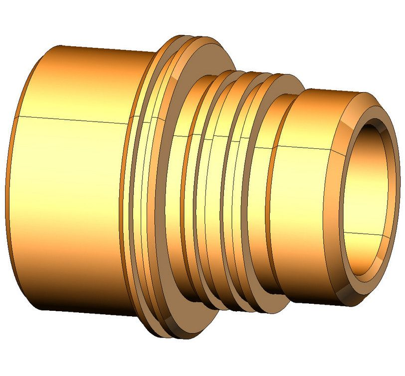 3D модель детали sprutcam1