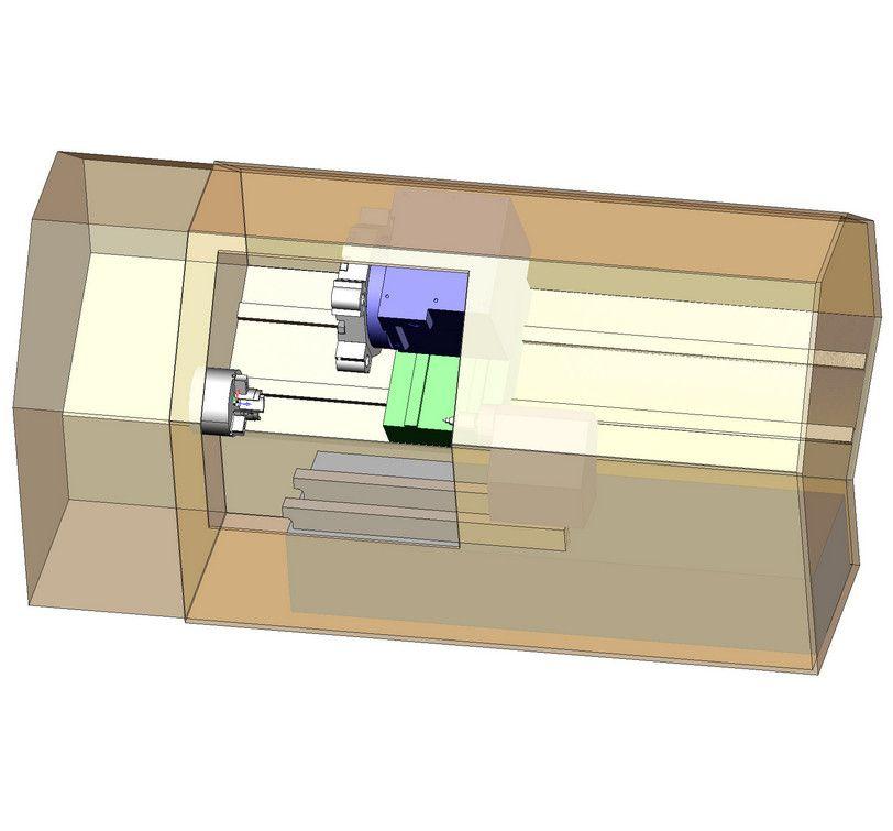 Виртуальная модель обрабатывающего центра GoodWay в SprutCAM