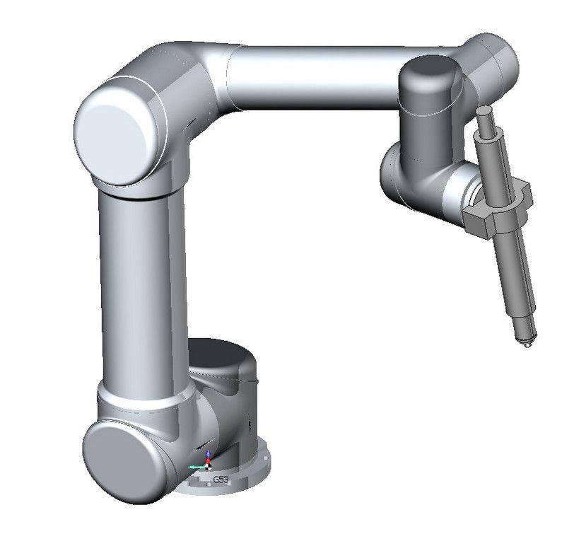 sprutcam Виртуальная модель коллаборативного промышленного робота Universal Robots UR5