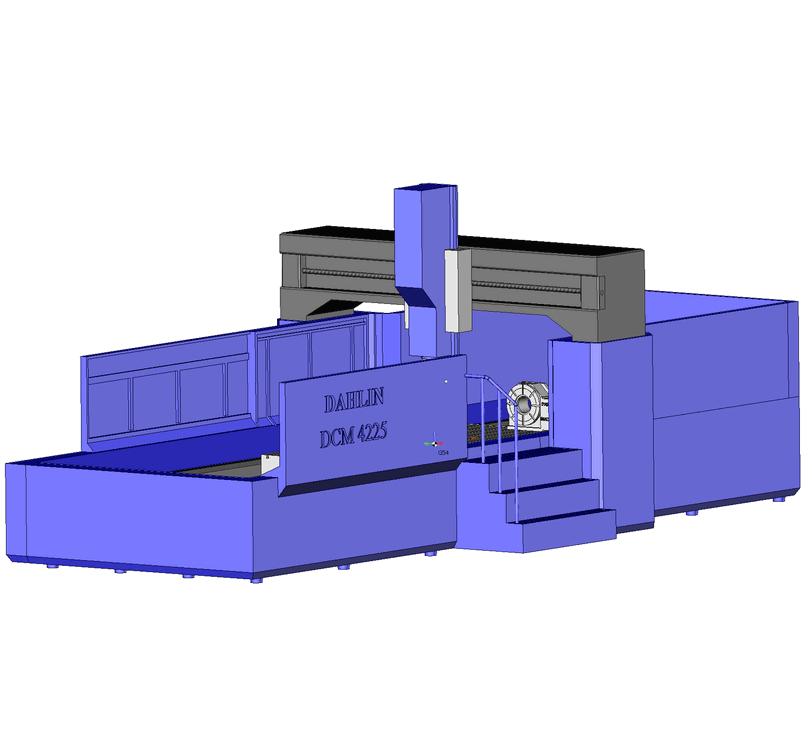 Виртуальная модель обрабатывающего центра Dahlih в SprutCAM
