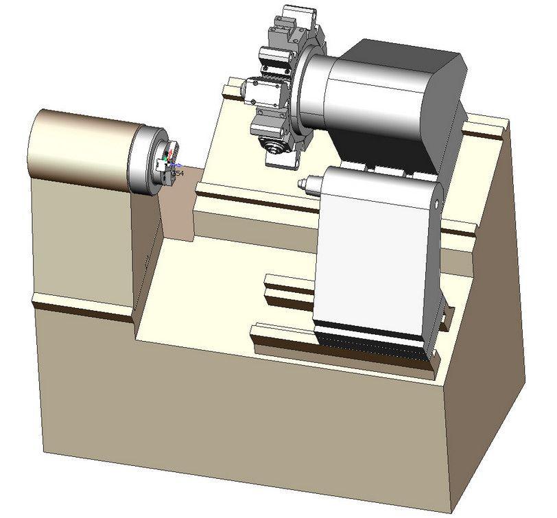 sprutcam Виртуальная модель обрабатывающего центра GoodWay в SprutCAM