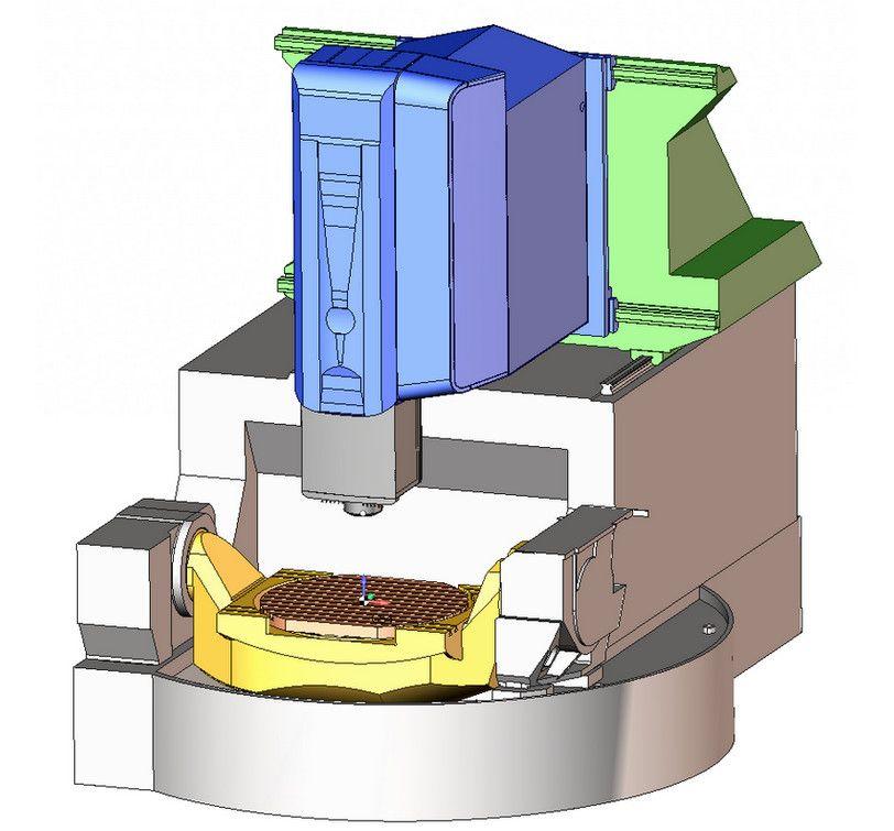 Виртуальная модель обрабатывающего центра DMU 85 monoBLOCK в SprutCAM
