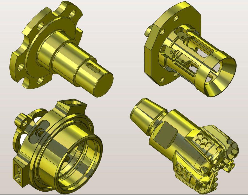 Рис. 7. Примеры деталей, выполненных в системе SprutCAM