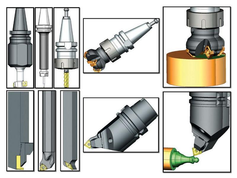Реалистичные 3D модели инструмента SprutCAM