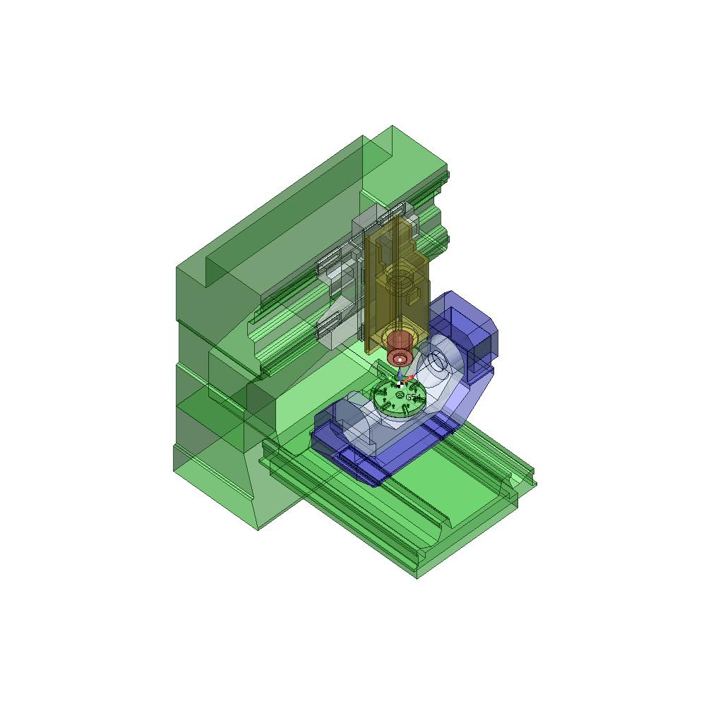 SprutCAM пример виртуального 5-и осевого AC фрезерного станка