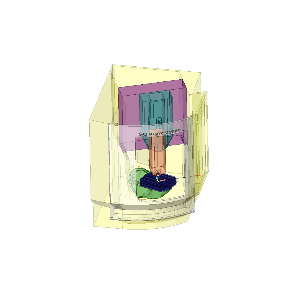 SprutCAM пример виртуального 5-и осевого BC фрезерного станка