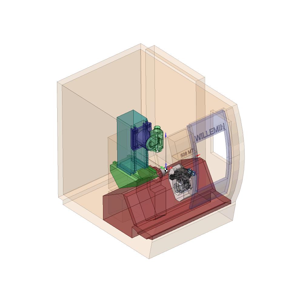 SprutCAM пример виртуального 8-ми осевого станка