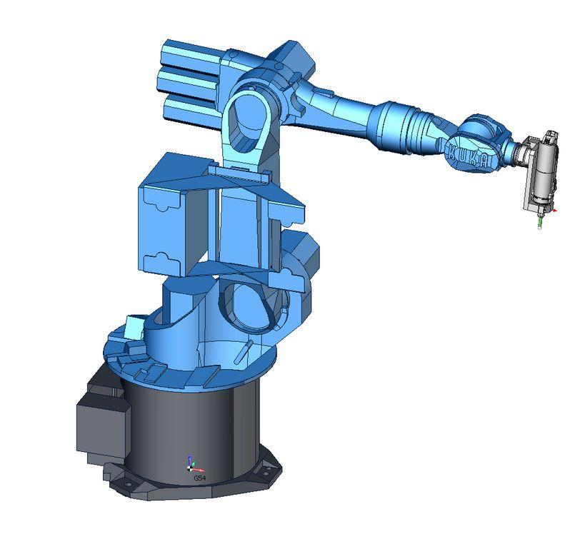 Виртуальная модель промышленного робота Kuka KR16