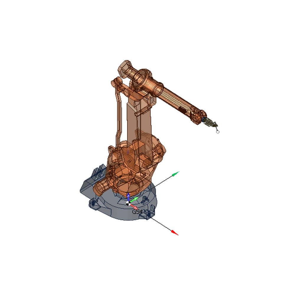 SprutCAM пример виртуальной модели робота