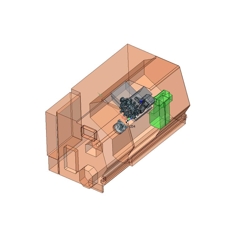 SprutCAM пример виртуального токарного станка