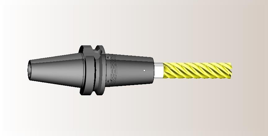 Твердотельная модель сверла в SprutCAM