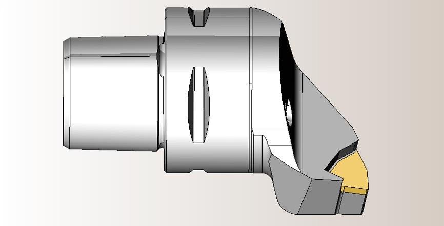 Твердотельная модель токарного инструмента в SprutCAM