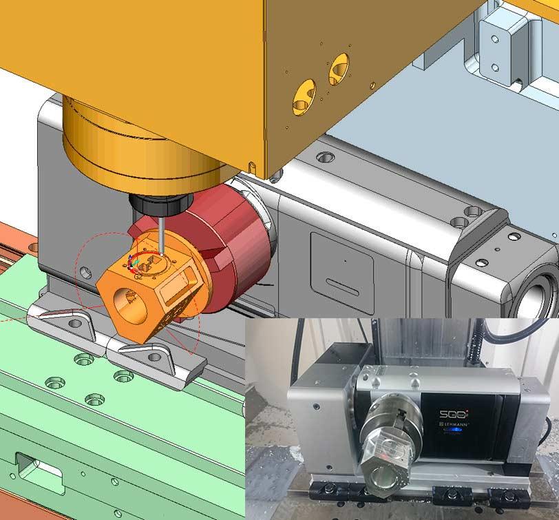 Моделирование обработки с учетом кинематики оборудования в SprutCAM