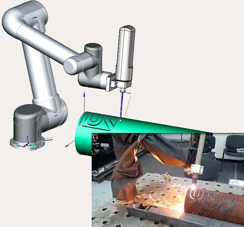 Моделирование обработки с учетом кинематики робота в SprutCAM