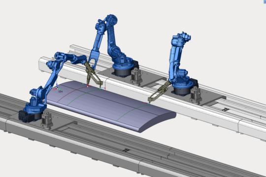 SprutCAM Robot Наплавка 3 робота
