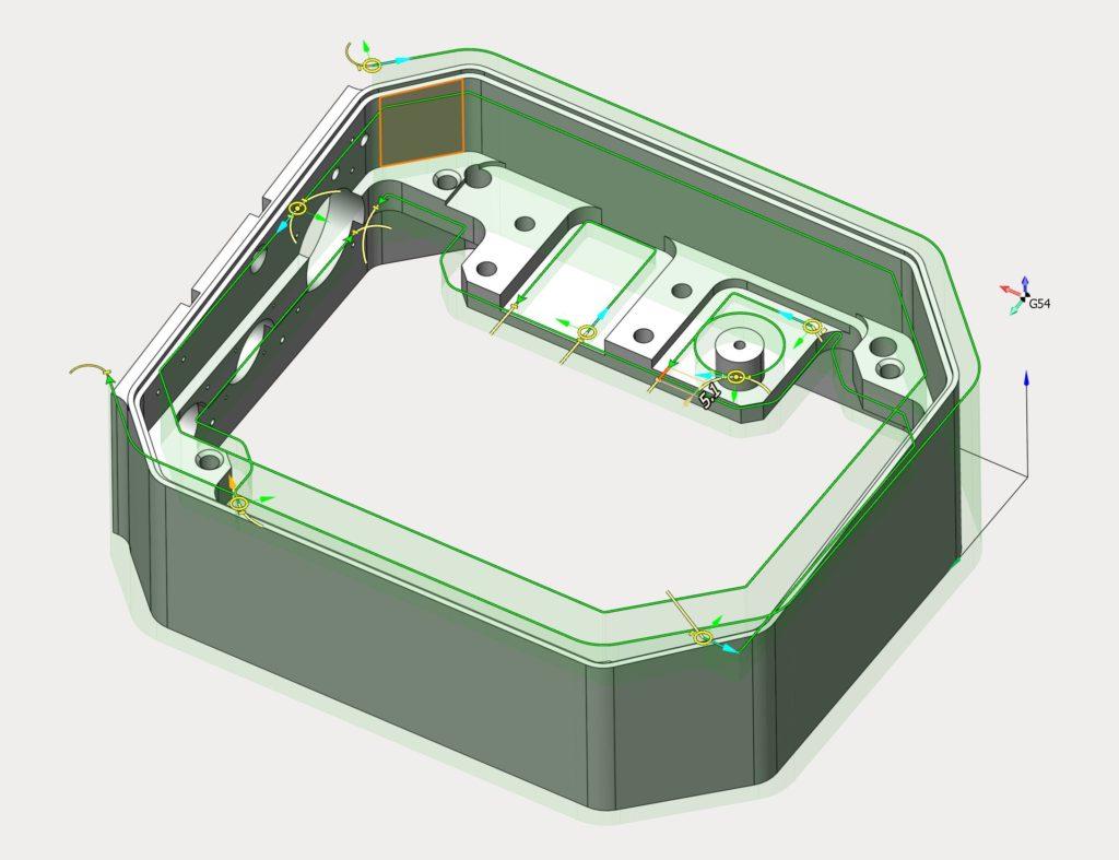 SprutCAM14 Операция 2.5D-Контур