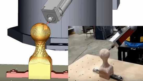 SprutCAM Робот. Фрезерование кубка. Пример внедрения