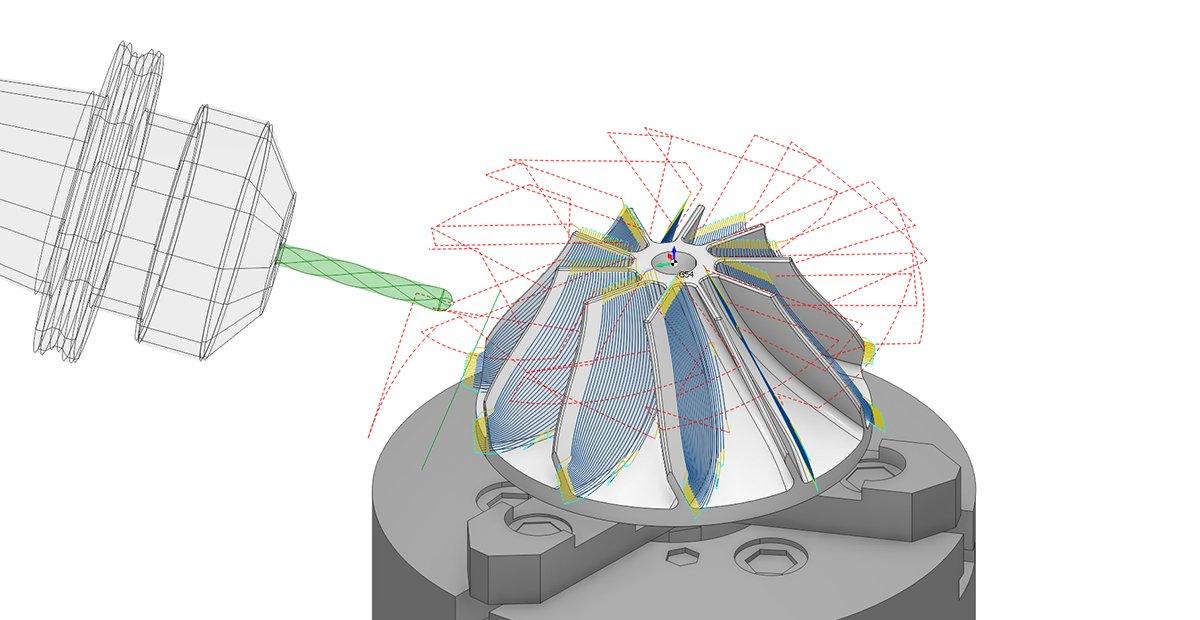 5D непрерывная обработка в SprutCAM