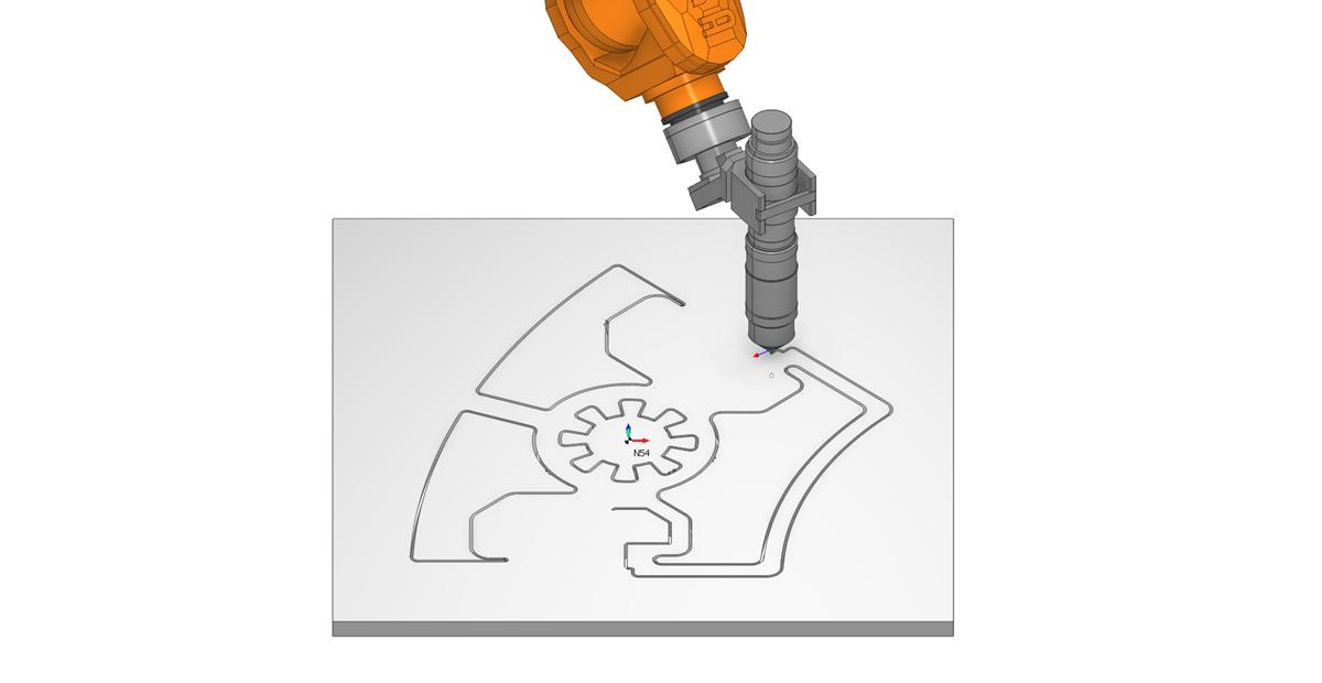 Плазменная резка роботом в SprutCAM1